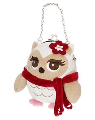Girls Winter Ivory Owl Plush Purse by Gymboree