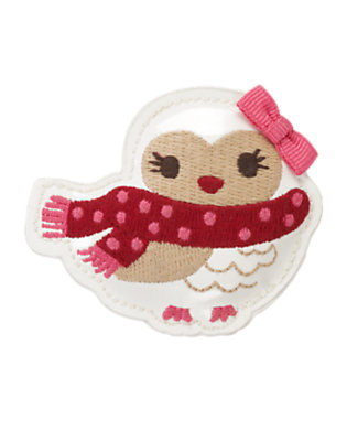 Toddler Girls Winter Ivory Owl Hair Clip by Gymboree