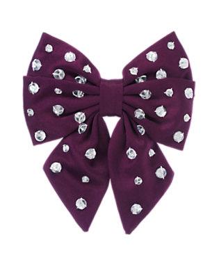 Princess Purple Gem Bow Hair Clip by Gymboree