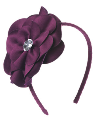 Girls Princess Purple Gem Flower Headband by Gymboree