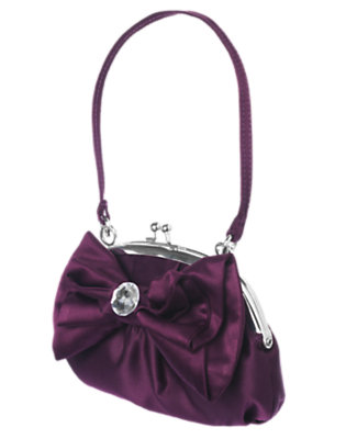 Girls Princess Purple Gem Bow Purse by Gymboree