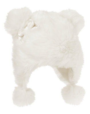 Winter Ivory Pom Pom Faux Fur Hat by Gymboree