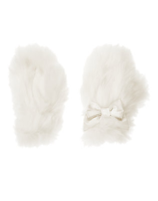 Winter Ivory Faux Fur Mitten by Gymboree