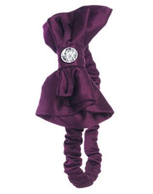 Princess Purple Gem Bow Headband by Gymboree