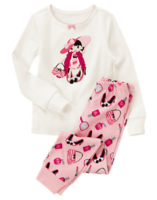 Toddler Girls Pink Dress-Up Girl Two-Piece Gymmies® by Gymboree