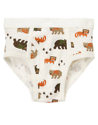 Boys Ivory Wilderness Friends Brief by Gymboree