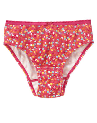 Girls Pink Floral Mini Flower Panty by Gymboree
