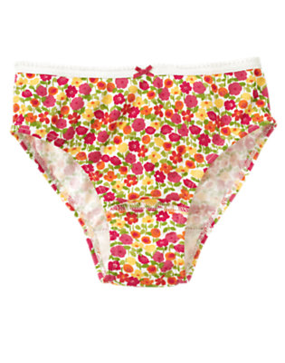 Girls Ivory Flower Panty by Gymboree