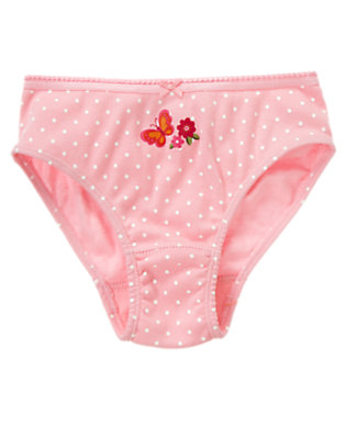 Toddler Girls Sweet Pink Butterfly Dot Panty by Gymboree
