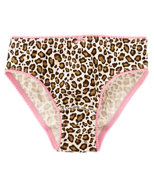 Toddler Girls Ivory Leopard Leopard Panty by Gymboree