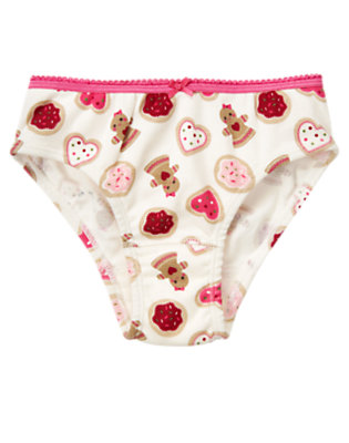 Girls Winter Ivory Gingerbread Cookie Panty by Gymboree