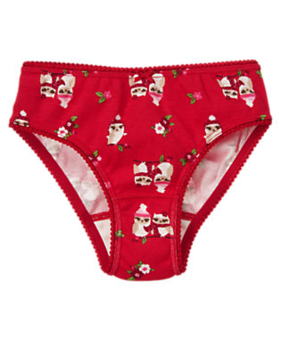 Toddler Girls Red Owl Owl Flower Panty by Gymboree
