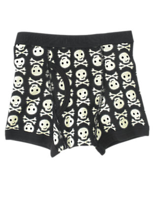 Toddler Boys Black Skull and Crossbones Boxer Brief by Gymboree
