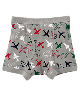 Toddler Boys Grey Airplanes Boxer Brief by Gymboree