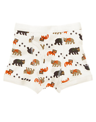 Boys Ivory Wilderness Friends Boxer Brief by Gymboree