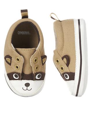Khaki Raccoon Crib Sneaker by Gymboree