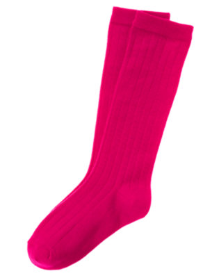 Chic Pink Knee Sock by Gymboree