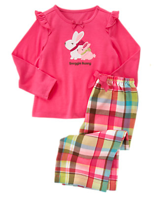 Girls Bunny Pink Snuggle Bunny Two-Piece Pajama Set by Gymboree