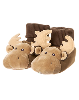 Boys Moose Brown Moose Slipper by Gymboree