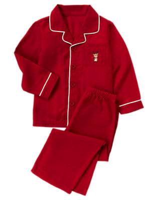 Girls Holiday Red Reindeer Two-Piece Pajama Set by Gymboree