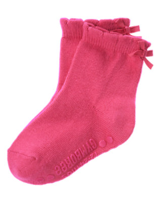 Toddler Girls Autumn Pink Bow Sock by Gymboree
