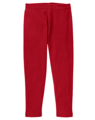 Girls Cranberry Red Legging by Gymboree