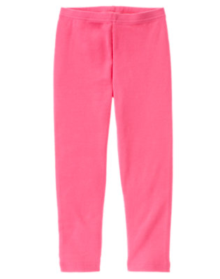 Girls Cozy Pink Legging by Gymboree