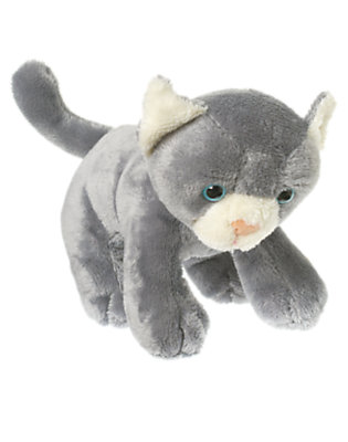 Toddler Girls Kitty Grey Kitty Plush Toy by Gymboree
