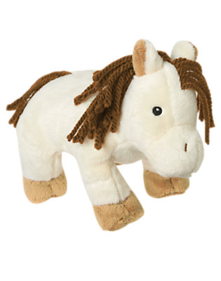 Girls Ivory Pony Pony Plush Toy by Gymboree