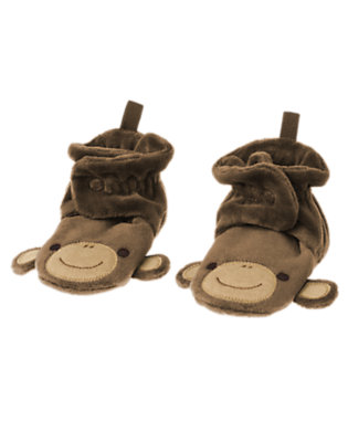 Baby Monkey Brown Monkey Bootie by Gymboree