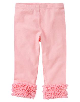Toddler Girls Sweet Pink Tulle Ruffle Legging by Gymboree