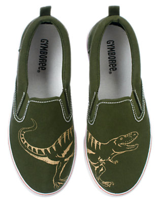 Green Dinosaur T-Rex Slip-On Sneaker by Gymboree
