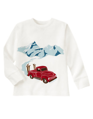 Ivory Mountain Truck Thermal Tee by Gymboree