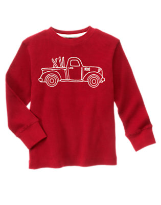 Alpine Red Truck Thermal Tee by Gymboree