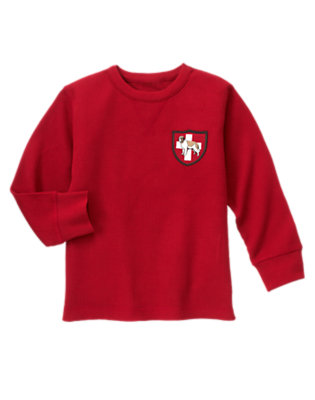 Alpine Red Rescue Dog Patch Thermal Tee by Gymboree