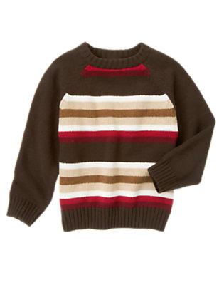Dark Brown Stripe Stripe Sweater by Gymboree
