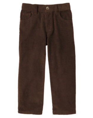 Dark Brown Corduroy Pant by Gymboree