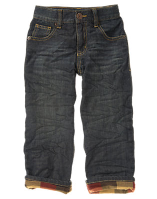 Boys Denim Microfleece Lined Jean by Gymboree