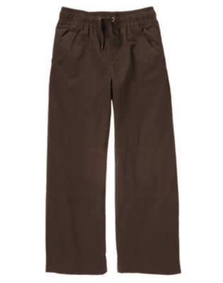 Dark Brown Microfleece Lined Active Pant by Gymboree