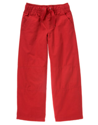 Boys Alpine Red Microfleece Lined Active Pant by Gymboree