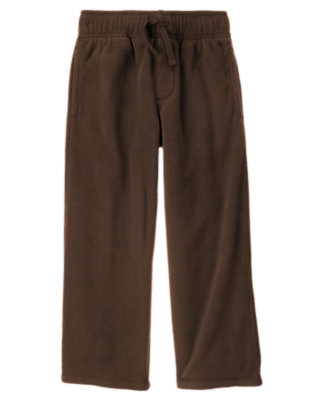 Dark Brown Microfleece Active Pant by Gymboree