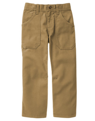 Boys Winter Khaki Canvas Carpenter Pant by Gymboree