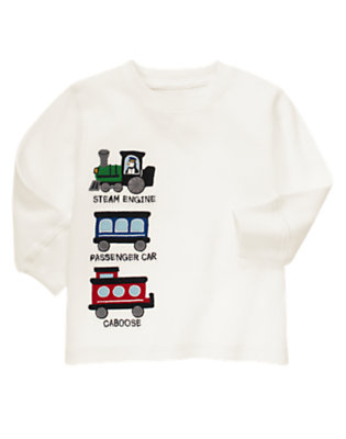 Ivory Train Thermal Tee by Gymboree