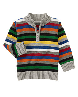 Stripe Half-Zip Sweater