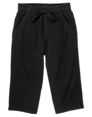 Black Microfleece Active Pant by Gymboree