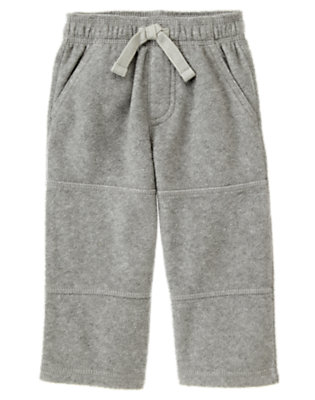 Heather Grey Microfleece Active Pant by Gymboree