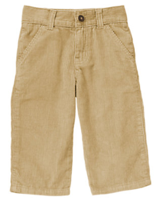 Toddler Boys Khaki Corduroy Pant by Gymboree