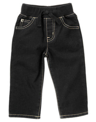 Denim Pull-On Black Denim Jean by Gymboree