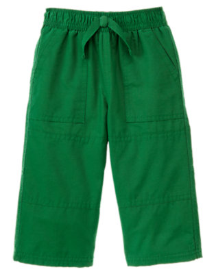 Toddler Boys Ivy Green Microfleece Lined Active Pant by Gymboree