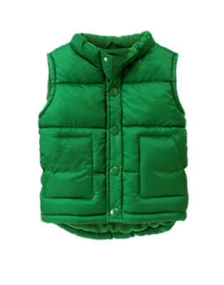 Toddler Boys Ivy Green Quilted Puffer Vest by Gymboree